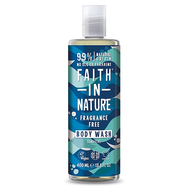 Гель для душа faith in nature Sensitive (без запаха), 400мл
